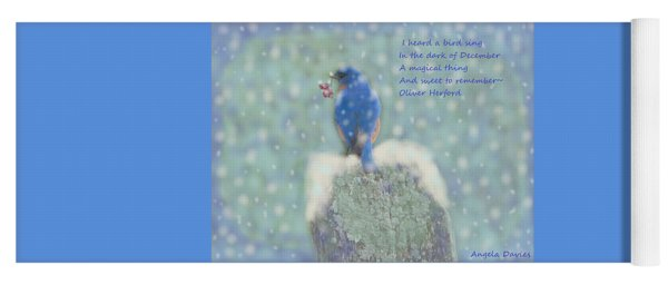 Winter Blue Bird Yoga Mat