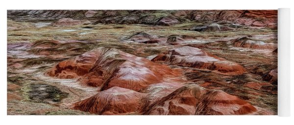 Yoga Mat featuring the photograph Winter Colors Of The Painted Desert by Jon Burch Photography