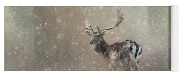 Winter In The Woods Yoga Mat