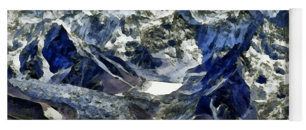 Winter Landscape In The Mountains Yoga Mat