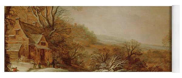 Winter Landscape With Cottages, 1625 Yoga Mat