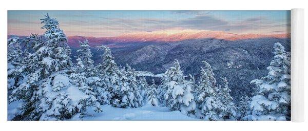Winter Light, Mountain Views Yoga Mat