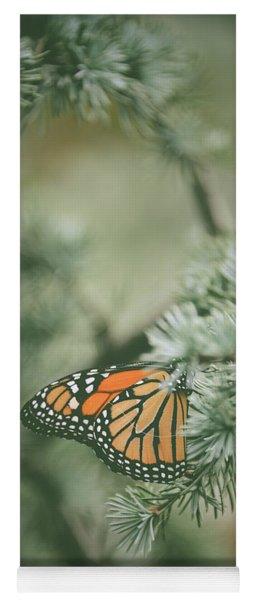 Winter Monarch Yoga Mat