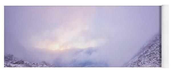 Winter Morning Light Tuckerman Ravine Yoga Mat