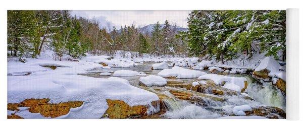 Winter On The Swift River. Yoga Mat