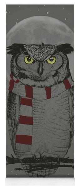 Winter Owl Yoga Mat
