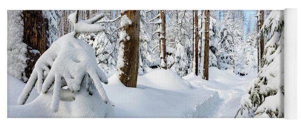 winter path, Harz Yoga Mat