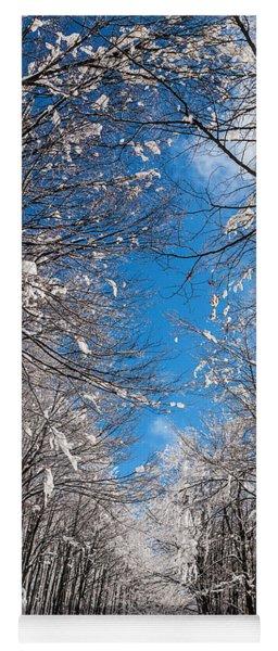 Winter Road Yoga Mat
