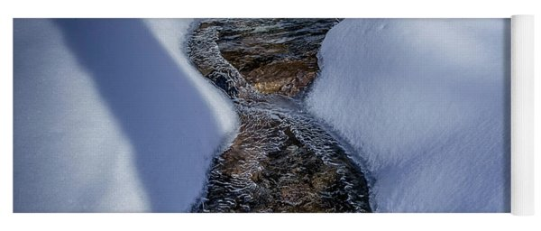 Winter Stream. Yoga Mat
