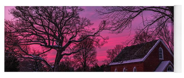 Yoga Mat featuring the photograph Winter Sunrise by Lori Coleman