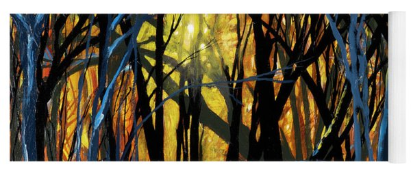 Winter Sunset In The Forest Yoga Mat