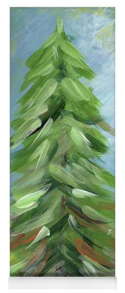 Yoga Mat featuring the painting Winter Tree- Expressionist Art By Linda Woods by Linda Woods