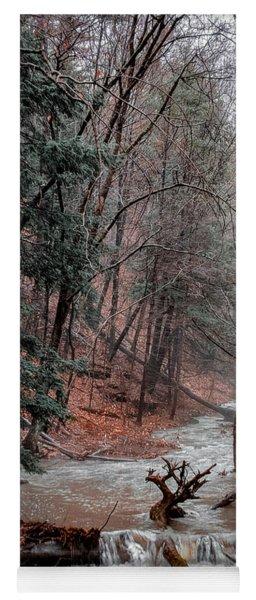 Winter Woods Yoga Mat