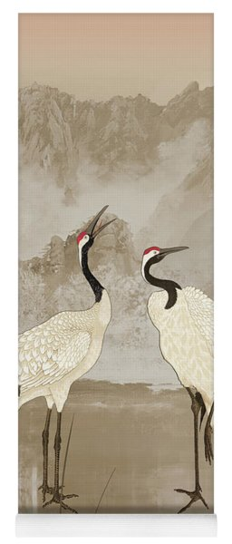 Wintering Manchurian Cranes Yoga Mat
