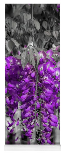 Yoga Mat featuring the photograph Wisteria Falling by Lora J Wilson