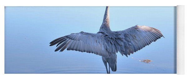 Wonderful Wingspan Of Sandhill Crane Yoga Mat