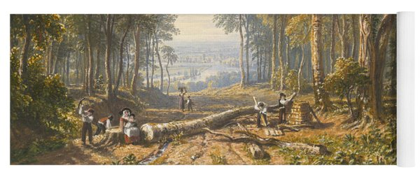 Woodcutters At Park Place, Henley, The River Thames Beyond Yoga Mat