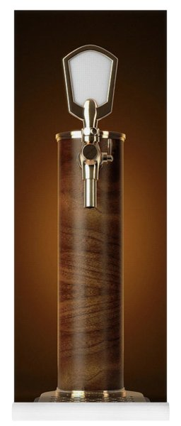 Wooden Beer Tap Isolated Yoga Mat