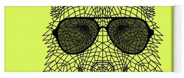 Woolf In Black Glasses Yoga Mat