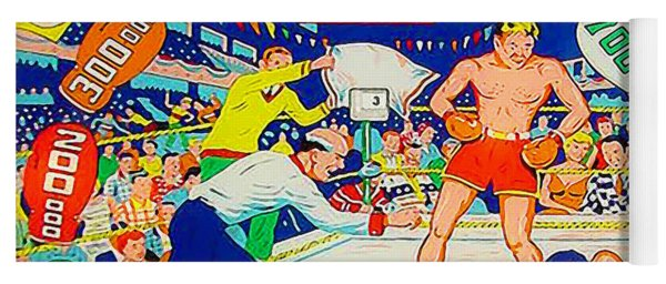 World Champ Pinball Machine Penny Arcade Nostalgia 20181225 Square Yoga Mat