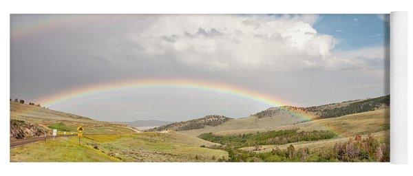 Wyoming Double Rainbow Yoga Mat