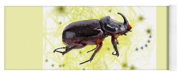 X Is For Xylotrupes Ulysses  Aka Rhinoceros Beetle Yoga Mat