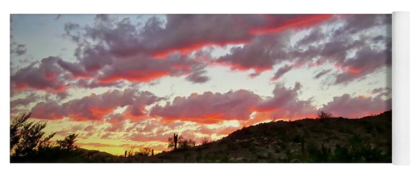 Yoga Mat featuring the photograph Y Cactus Sunset  11 by Judy Kennedy