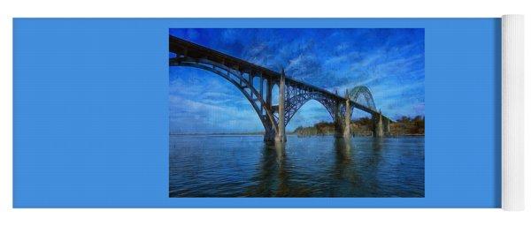 Yaquina Bay Bridge From South Beach Yoga Mat