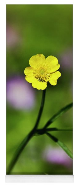 Yoga Mat featuring the photograph Yellow Buttercup by Christina Rollo