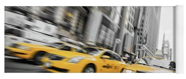 Yellow Cabs In New York Yoga Mat