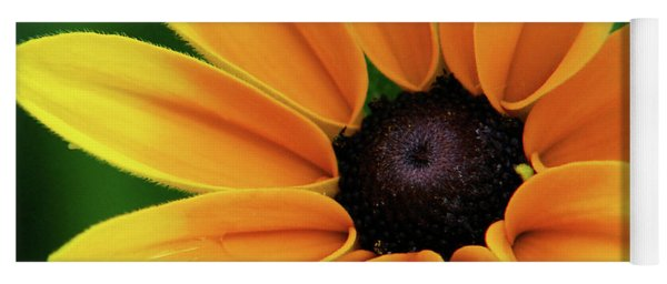 Yellow Flower Black Eyed Susan Yoga Mat