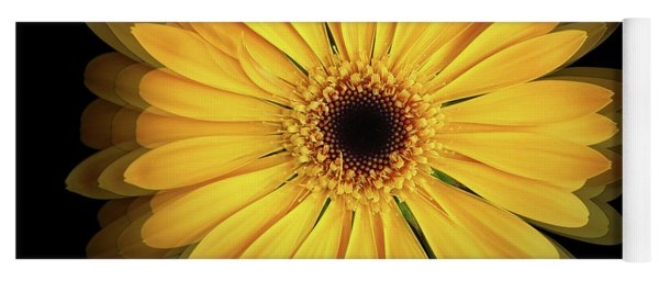 Yoga Mat featuring the photograph Yellow Gerbera Daisy Repetitions by Bill Swartwout Fine Art Photography