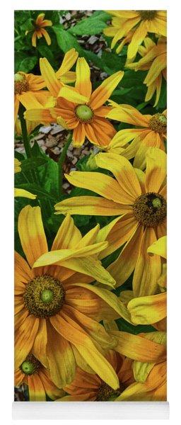 Yellow In Bloom Yoga Mat