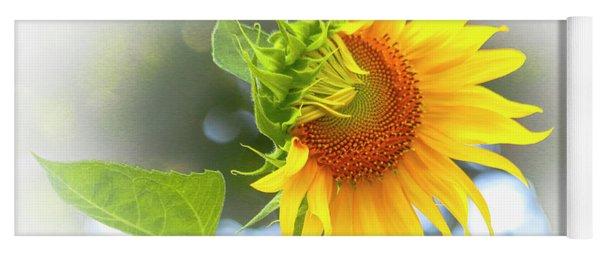 Yellow Petals Of Sunshine Yoga Mat