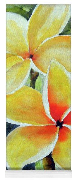 Yellow Plumeria Yoga Mat