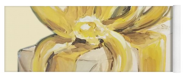 Yellow Present Yoga Mat