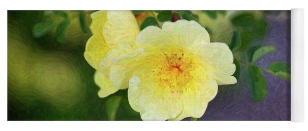 Yellow Rose - Blending Dreams - By Omaste Witkowski Yoga Mat