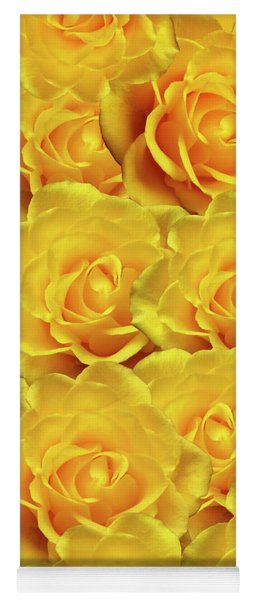 Yellow Roses Art Design Yoga Mat