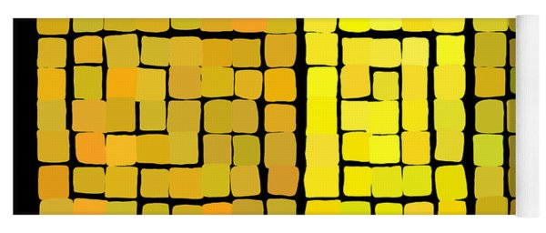 Yellow Triptych Yoga Mat