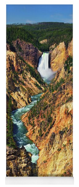 Yellowstone Grand Canyon From Artist Point Yoga Mat