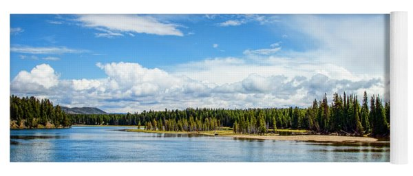 Yoga Mat featuring the photograph Yellowstone River by Mike Braun