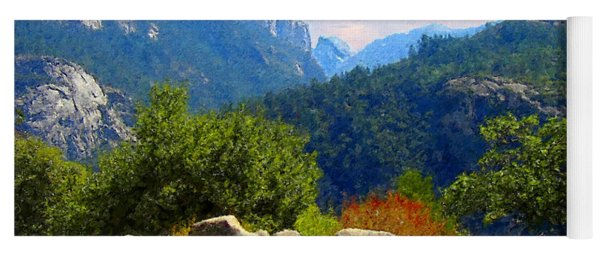 Yosemite Valley Corridor Yoga Mat