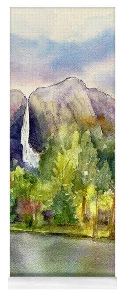 Yosemite Waterfalls Yoga Mat