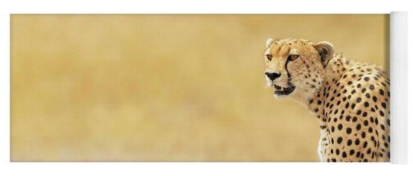 Young Adult Cheetah Banner Yoga Mat