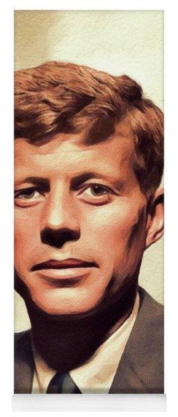 Young John F. Kennedy Yoga Mat