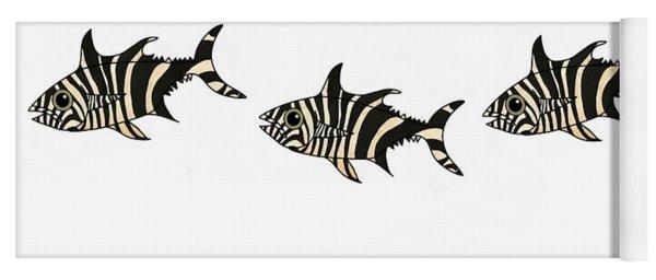 Zebra Fish 4 Of 4 Yoga Mat