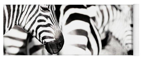 Zebras Black And White Yoga Mat