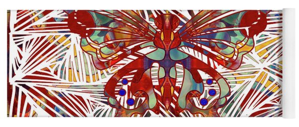 Zen Butterfly Abstract Digital Mixed Media Artwork By Omaste Witkowski Yoga Mat
