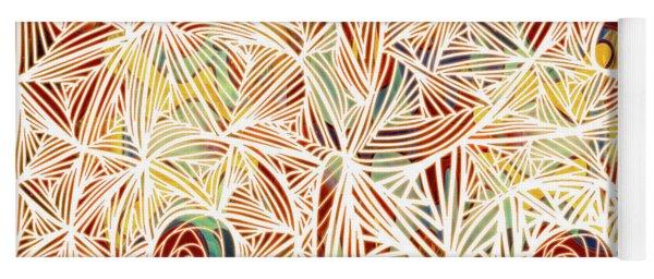 Zen Circles Tree Of Life Abstract Mixed Media Art By Omaste Witkowski Yoga Mat
