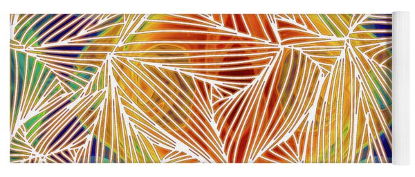 Zen Energy And Electricity In Motion Abstract Digital Mixed Media Artwork By Omaste Witkowski Yoga Mat
